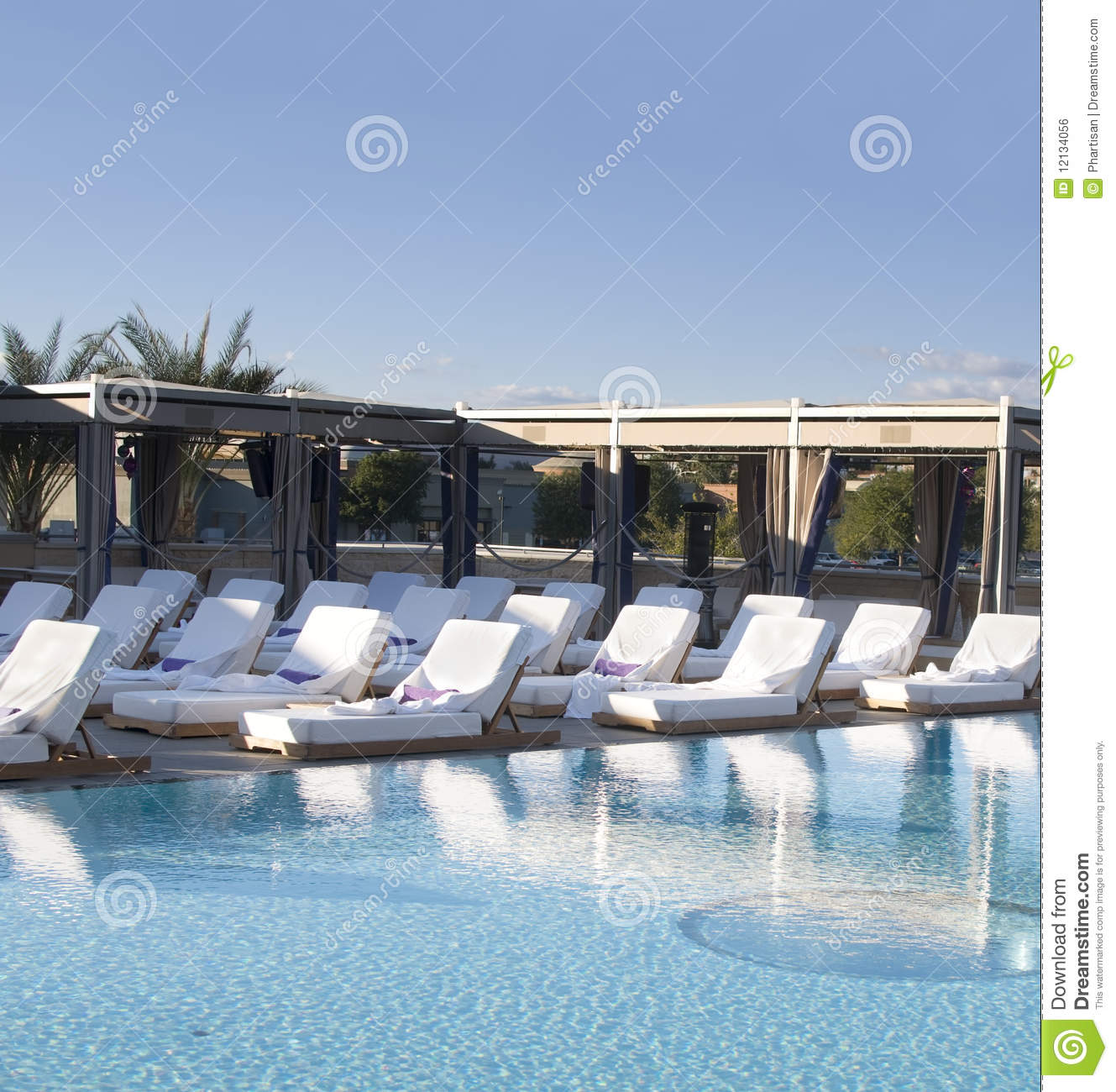 Spa luxury resort pool area royalty free stock photo for Luxury pool area