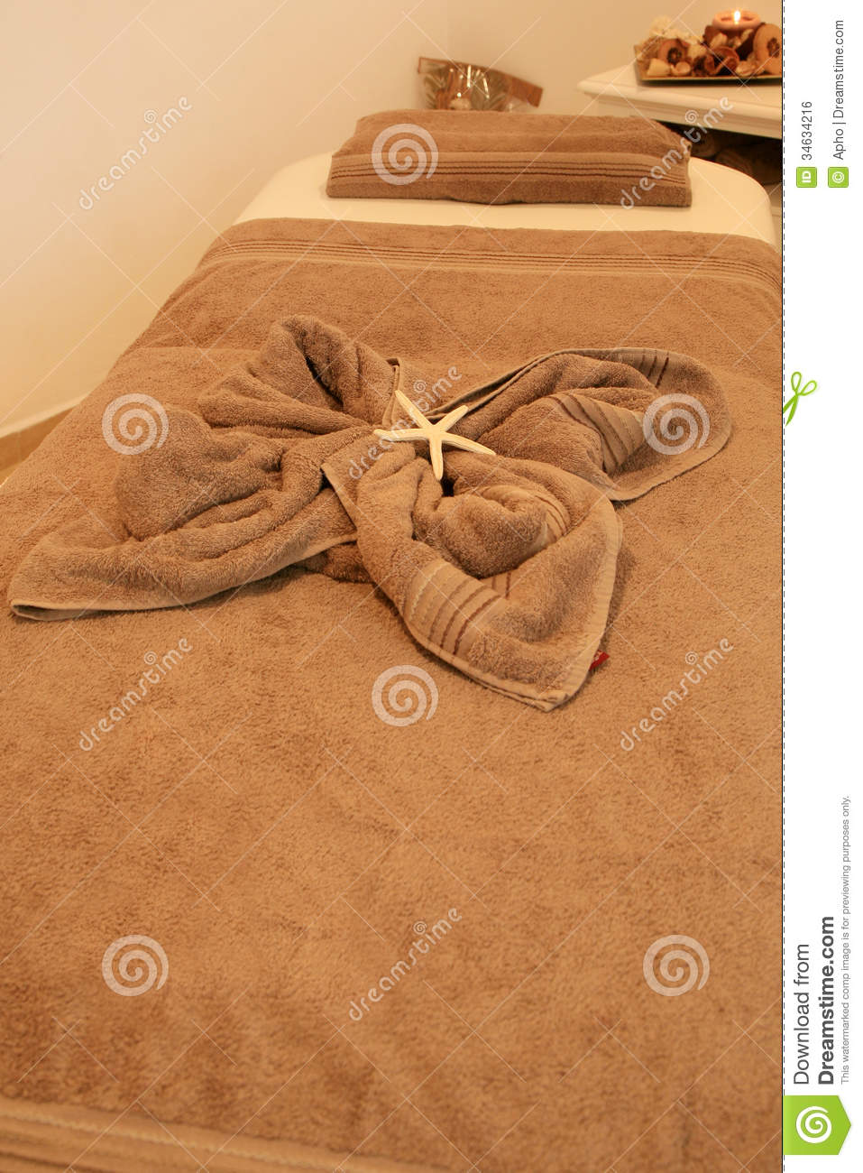 spa massage bed royalty free stock image image 34634216