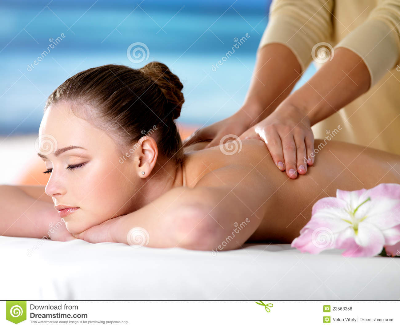 Young teen getting massage