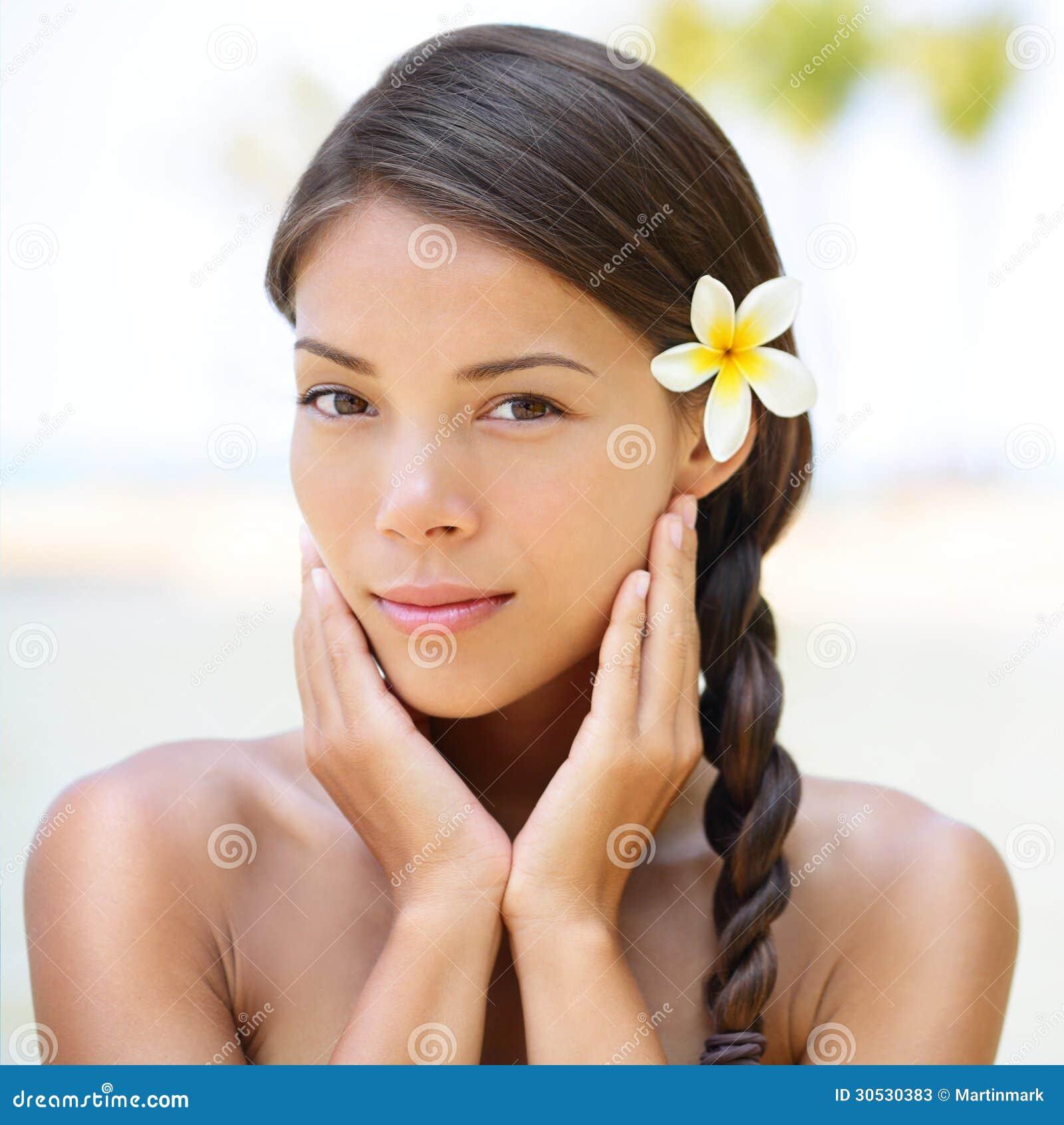 Beautiful Skin Care: Spa Resort Beauty Portrait Of Woman Stock Photos