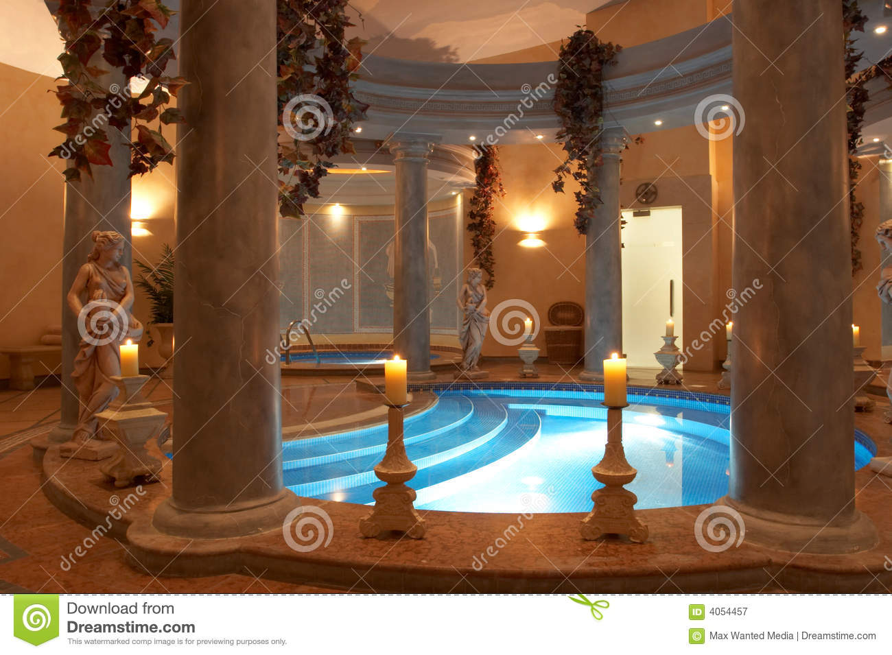 Spa With Roman Columns Stock Image Image Of Arch