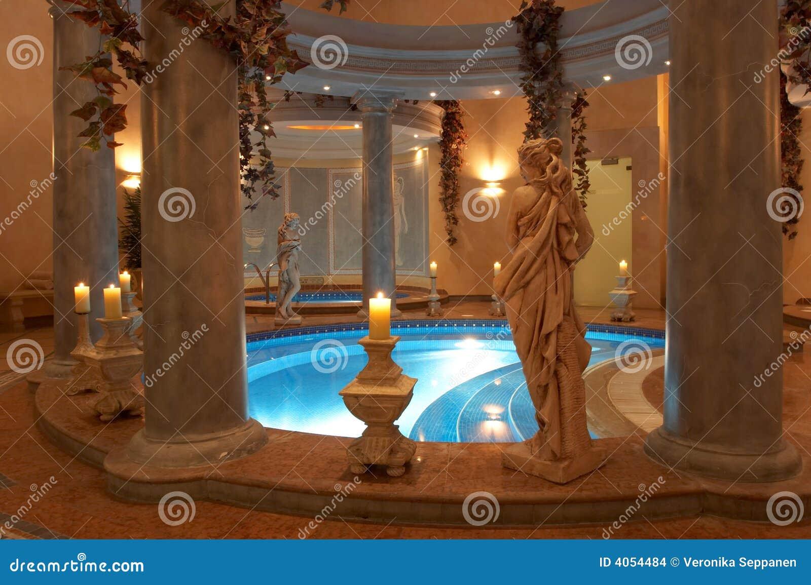 Spa With Roman Columns Stock Photo Image Of Aphrodite 4054484