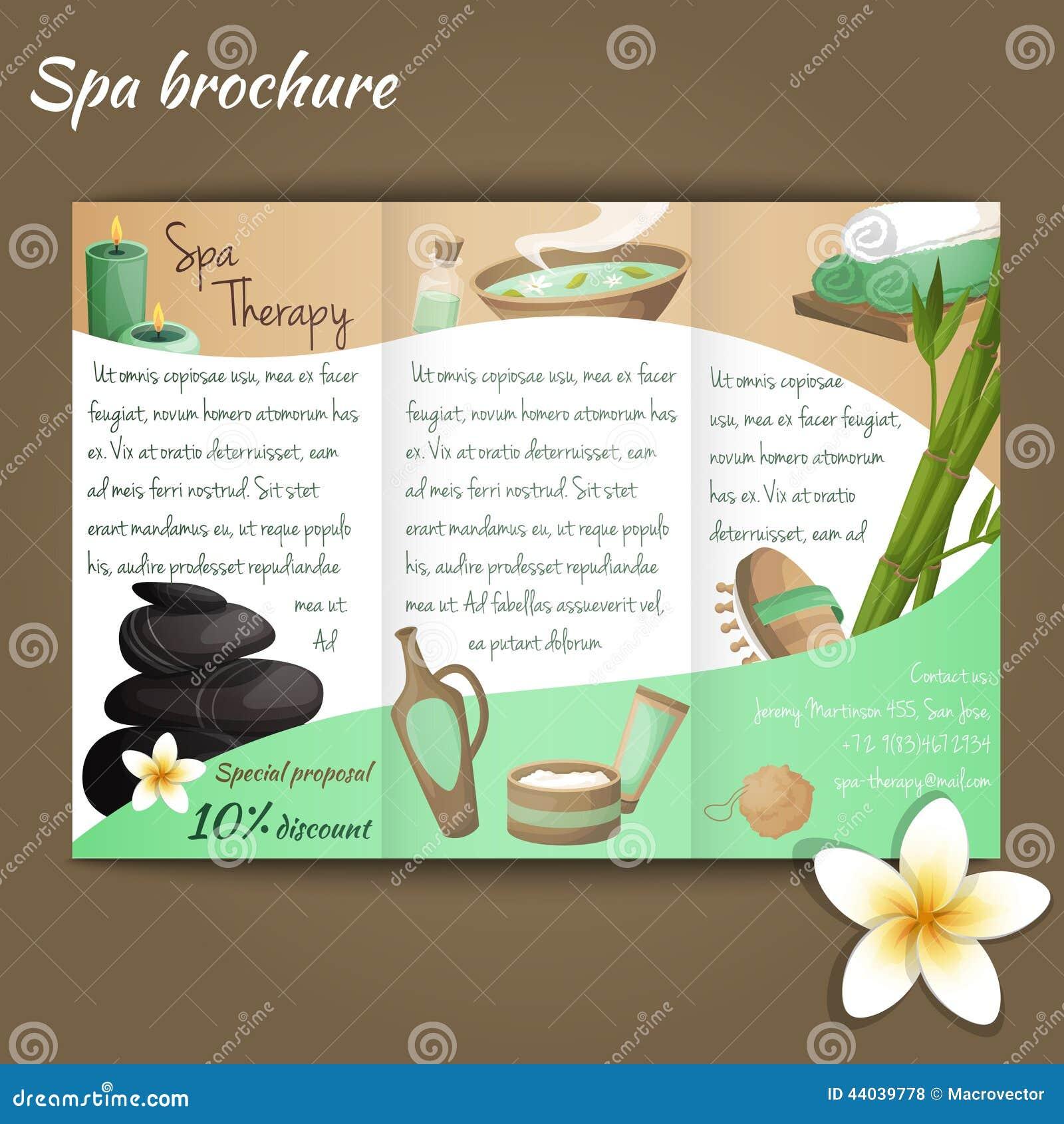 Spa salon brochure stock vector Image of brochure bath 44039778 – Spa Brochure