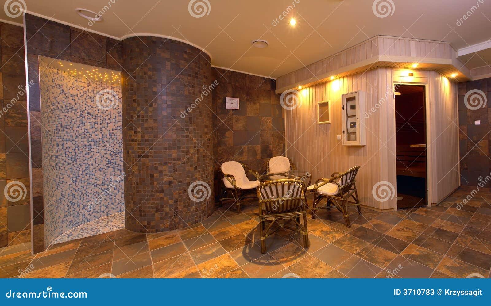 Spa Sauna Interior Decor Stock Image Image Of Decor