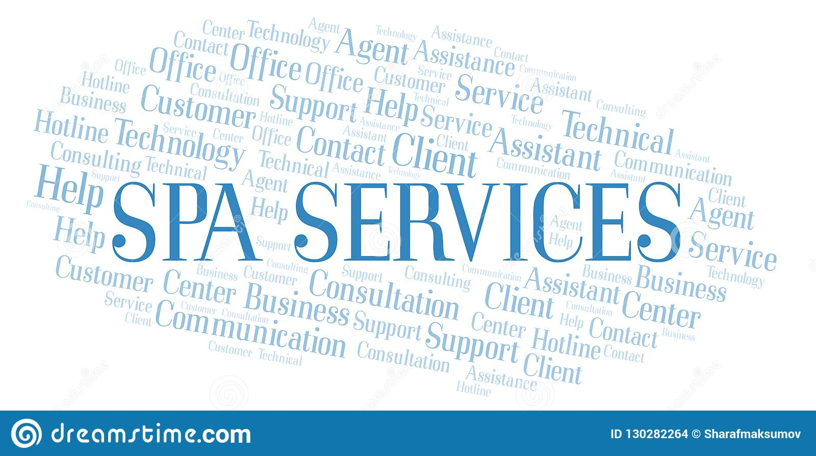 Spa Services Word Cloud Stock Illustration Illustration Of