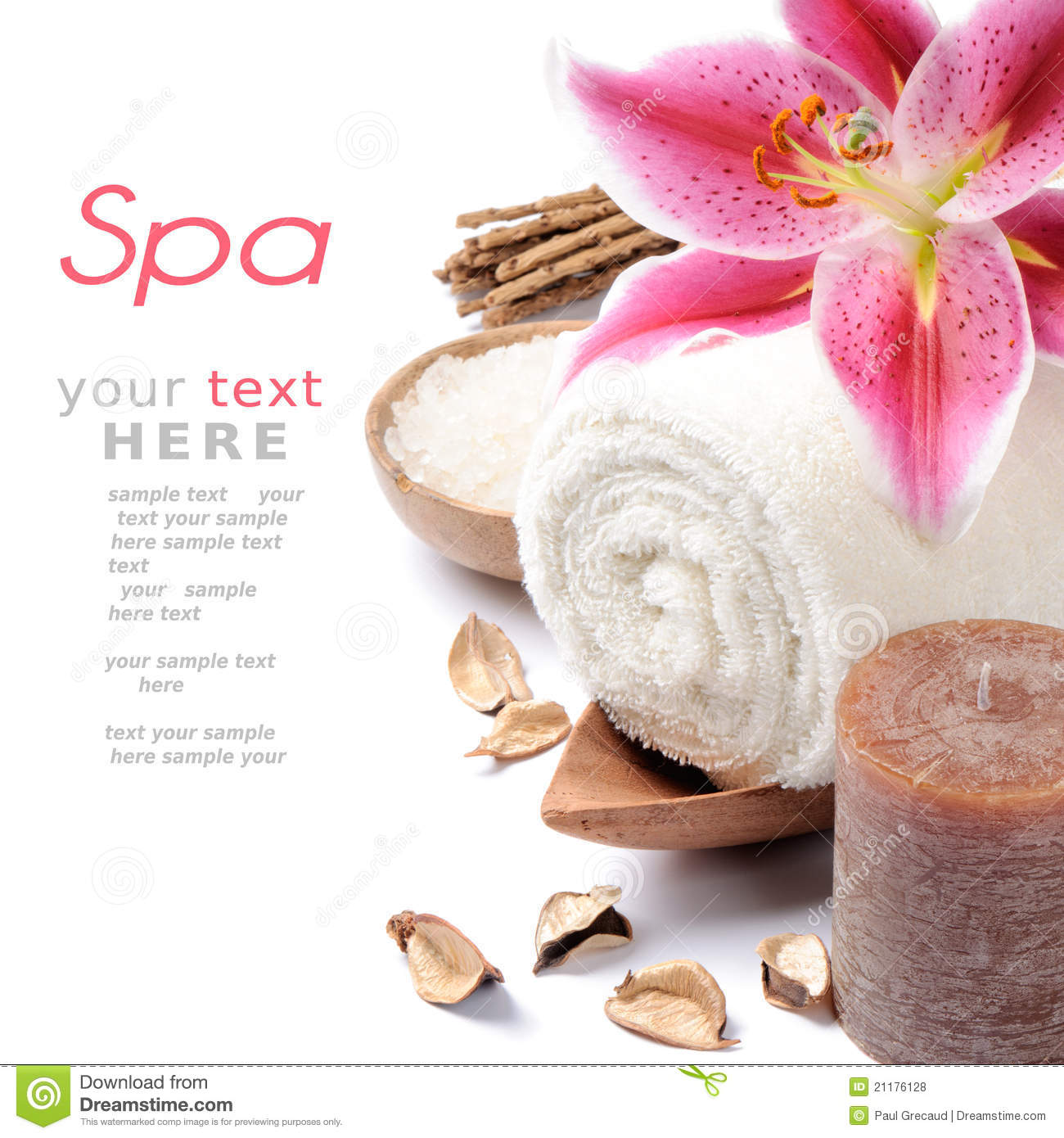 Spa setting in brown tone