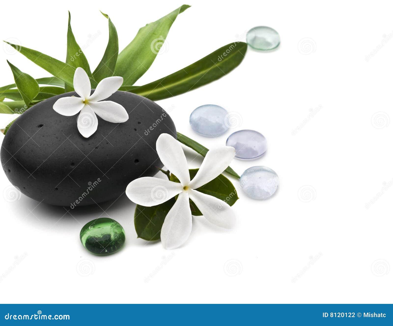 Spa still life with frangipani