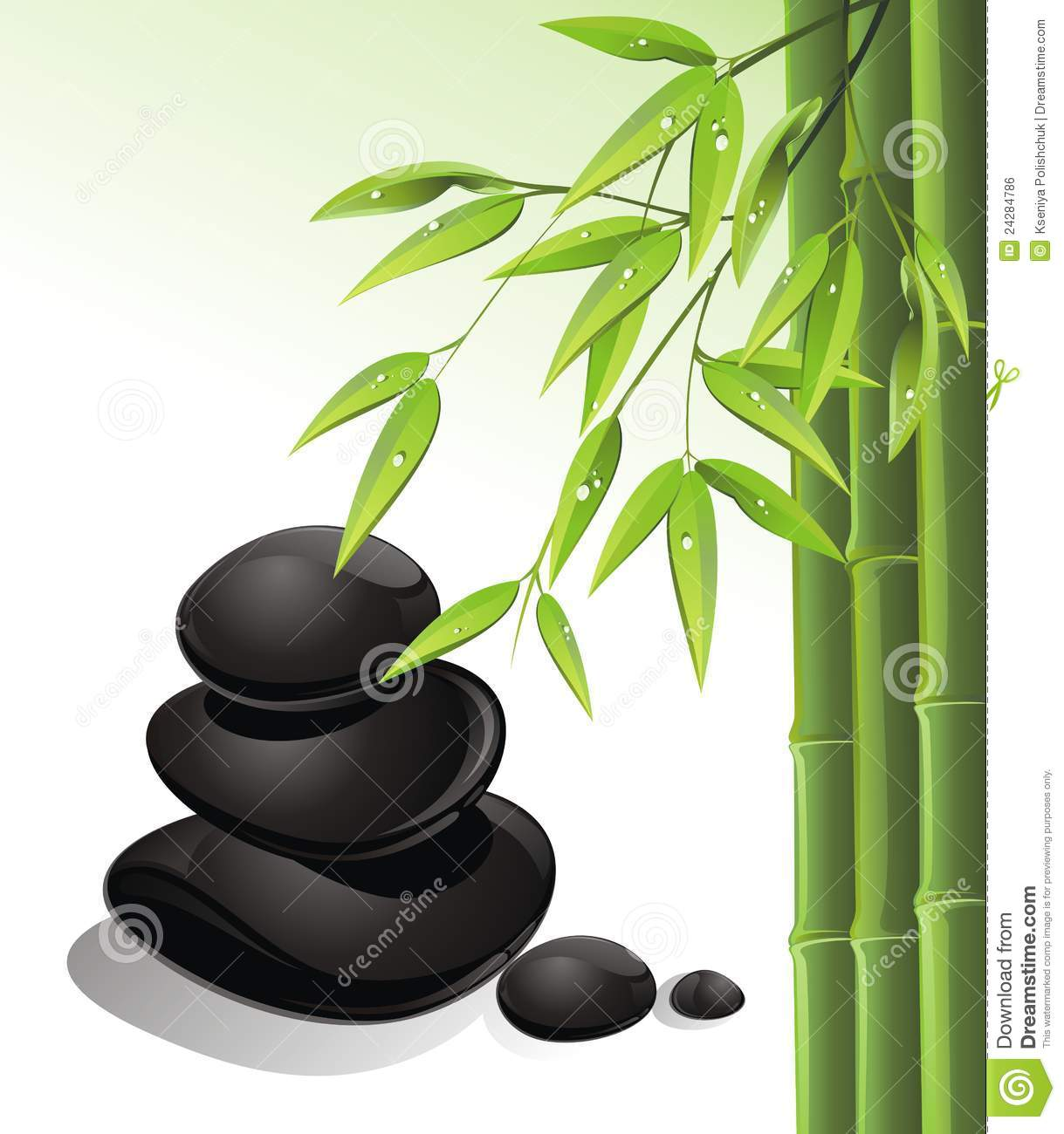 zen stones and bamboo - photo #7