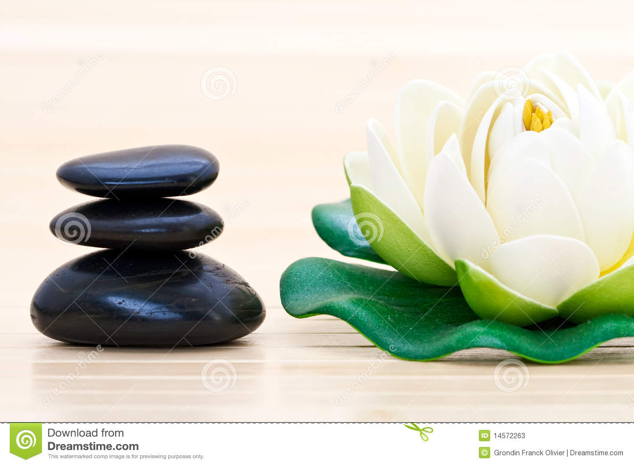 Spa Stones And Lotus Blossom Stock Image Image 14572263