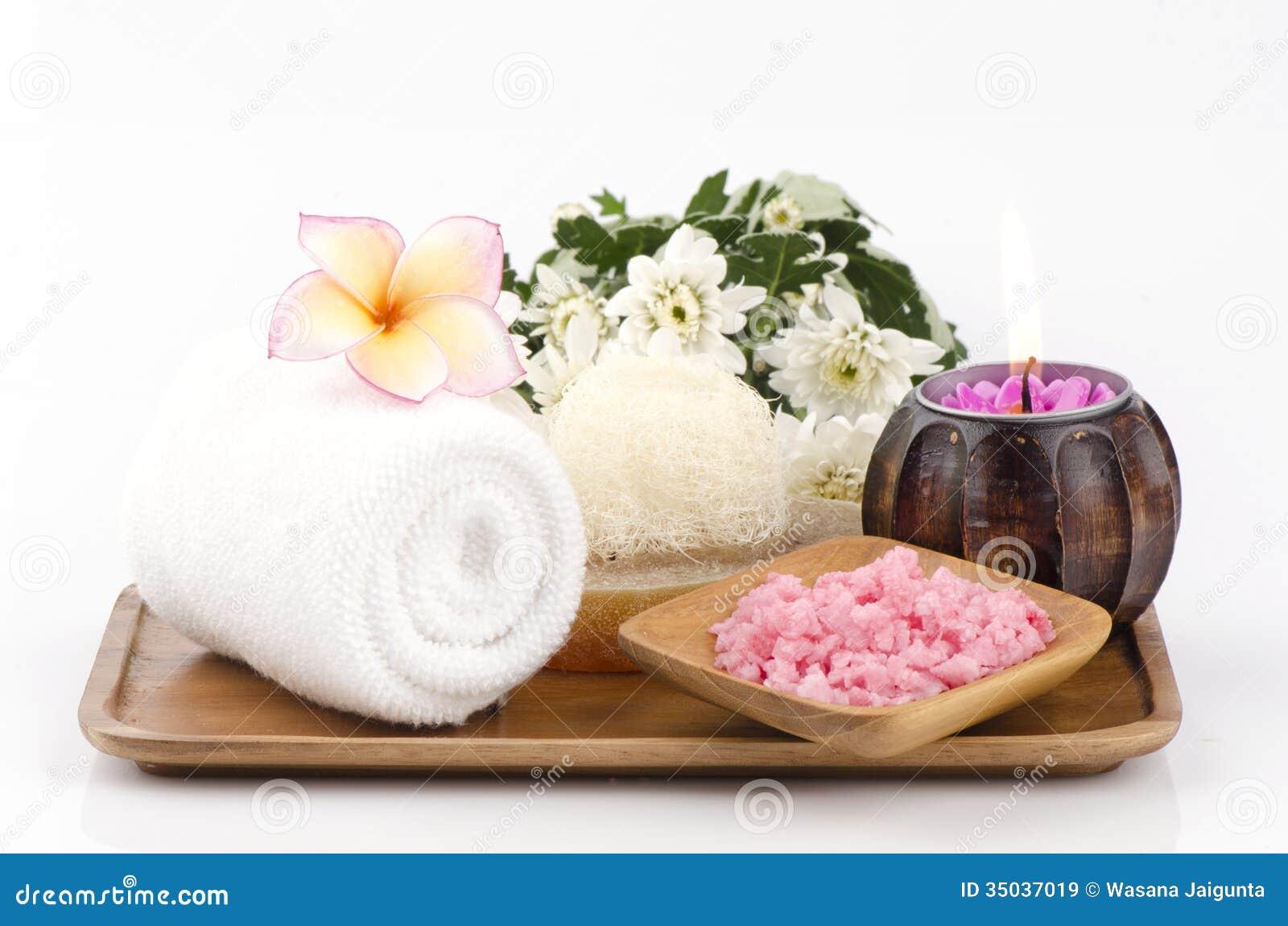 Spa treatment with sea salt stock image image 35037019 for Image salon
