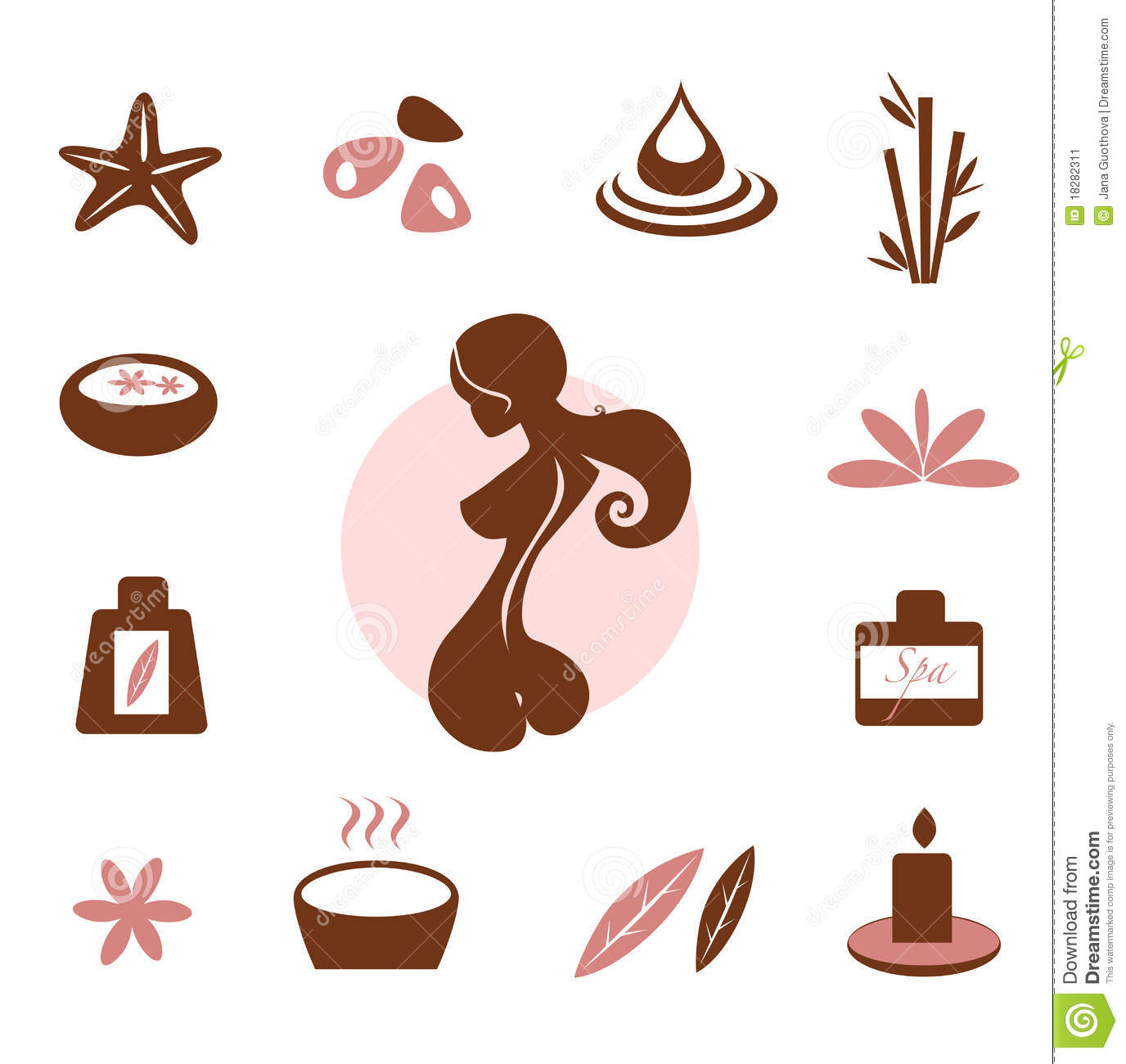 Wellness icon  Spa And Wellness Icon Collection - Brown Stock Image - Image: 18282311