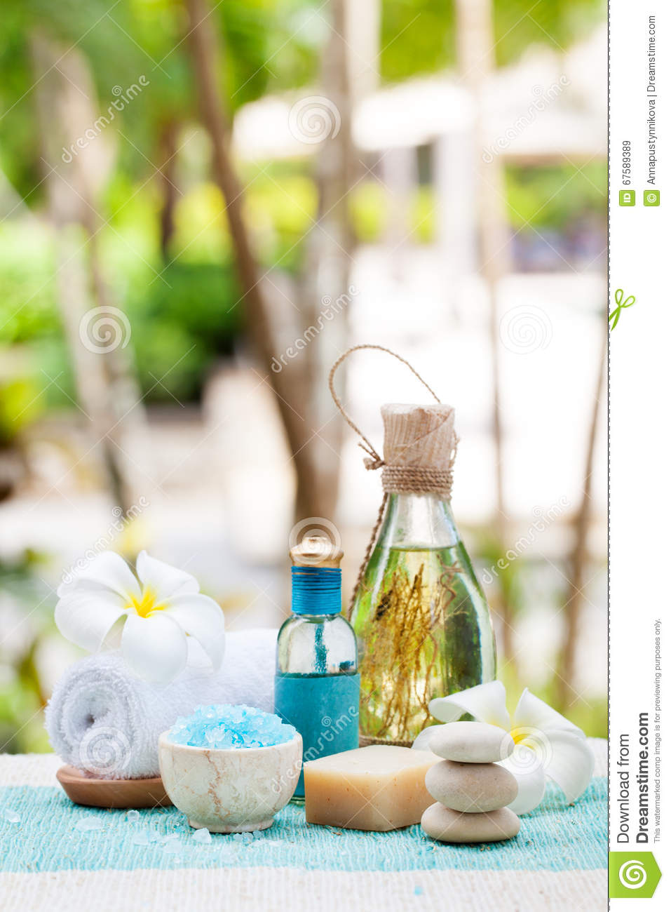 Spa And Wellness Massage Setting Still Life With Essential Oil ...
