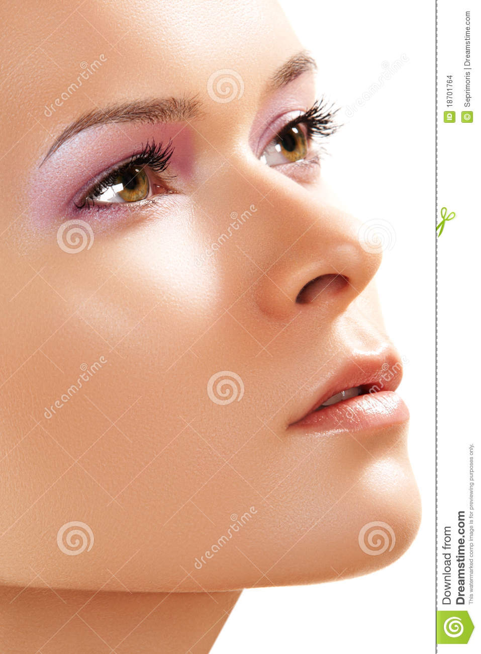 Spa wellness skin care close up of beauty face stock for A skin care salon