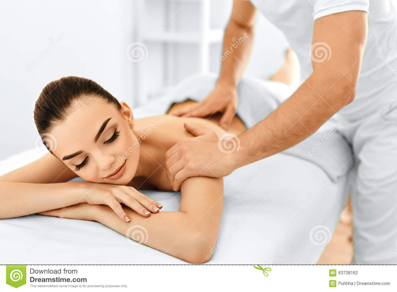 Spa Woman. Massage Procedure In Beauty Spa Salon. Body Care. Stock ...