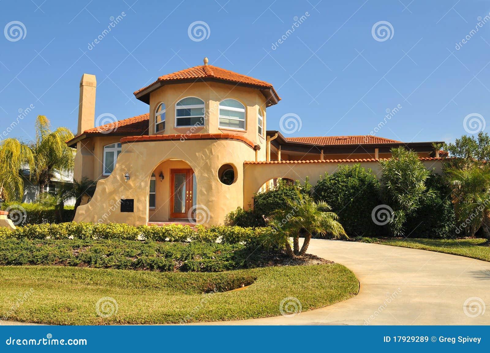 Spaans huis met wenk pueblo stock afbeelding afbeelding 17929289 for Deco buitenkant terras