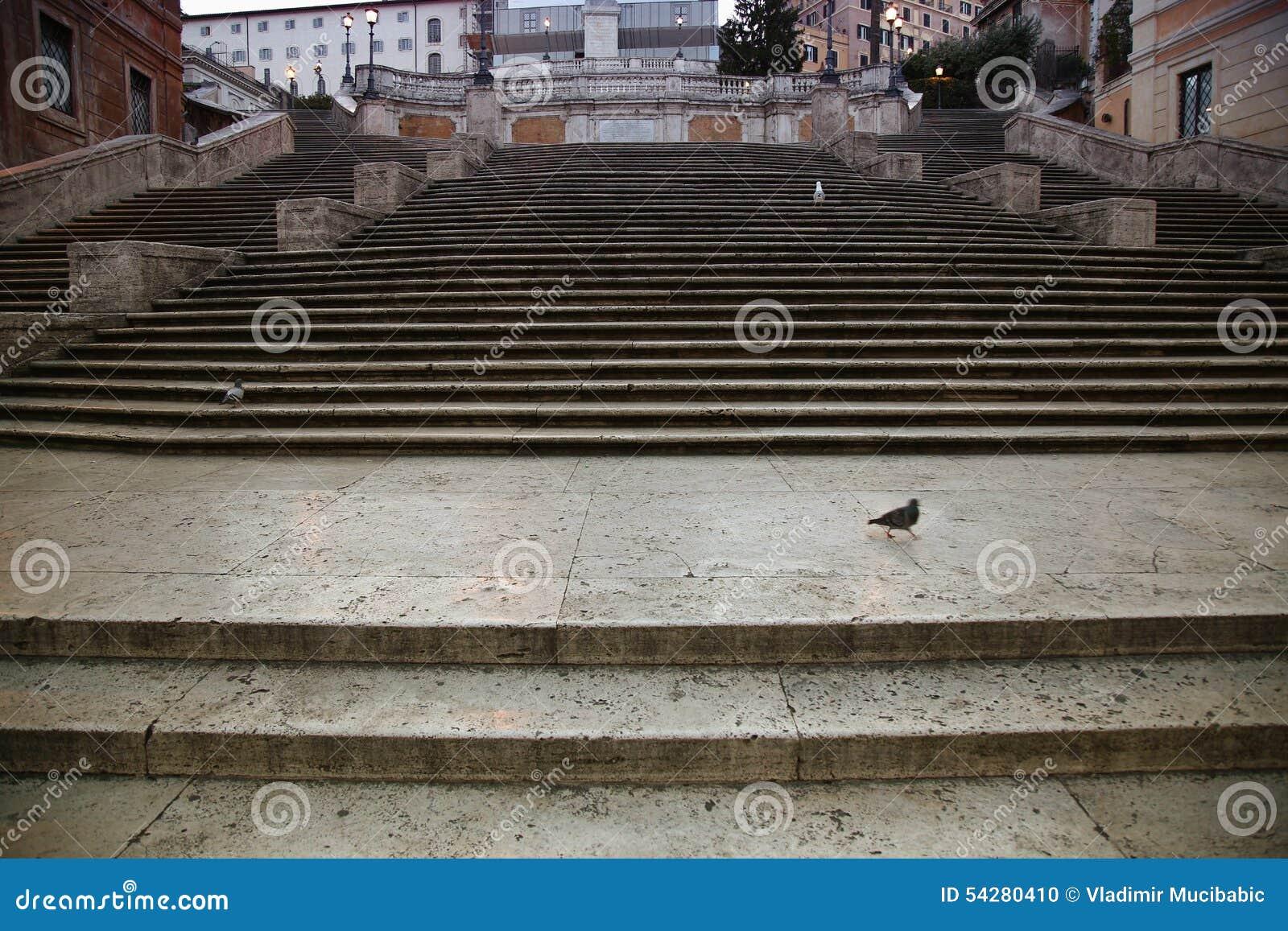 Spaans vierkant met Spaanse Stappen in Rome Italië