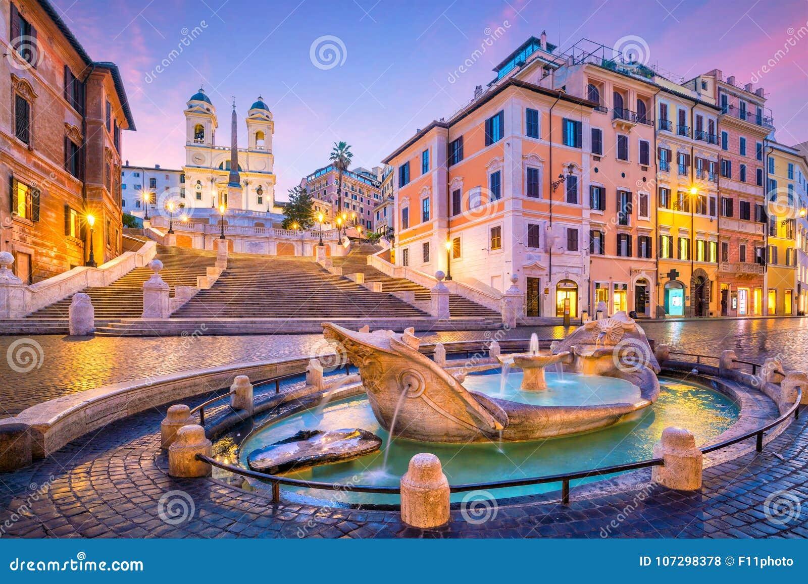 Spaanse Stappen in de ochtend, Rome