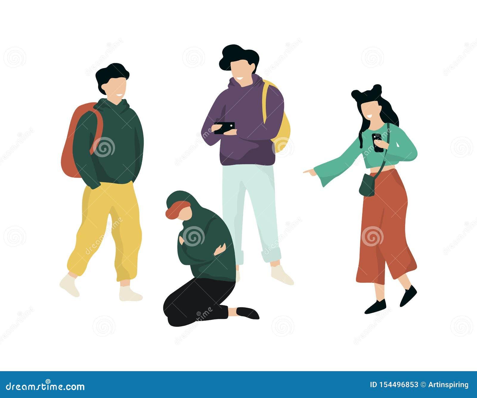 Spaccone nella scuola Ragazzo teenager di abuso, comportamento aggressivo