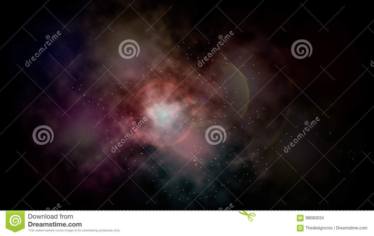 Space abstract glowing clouds nebula