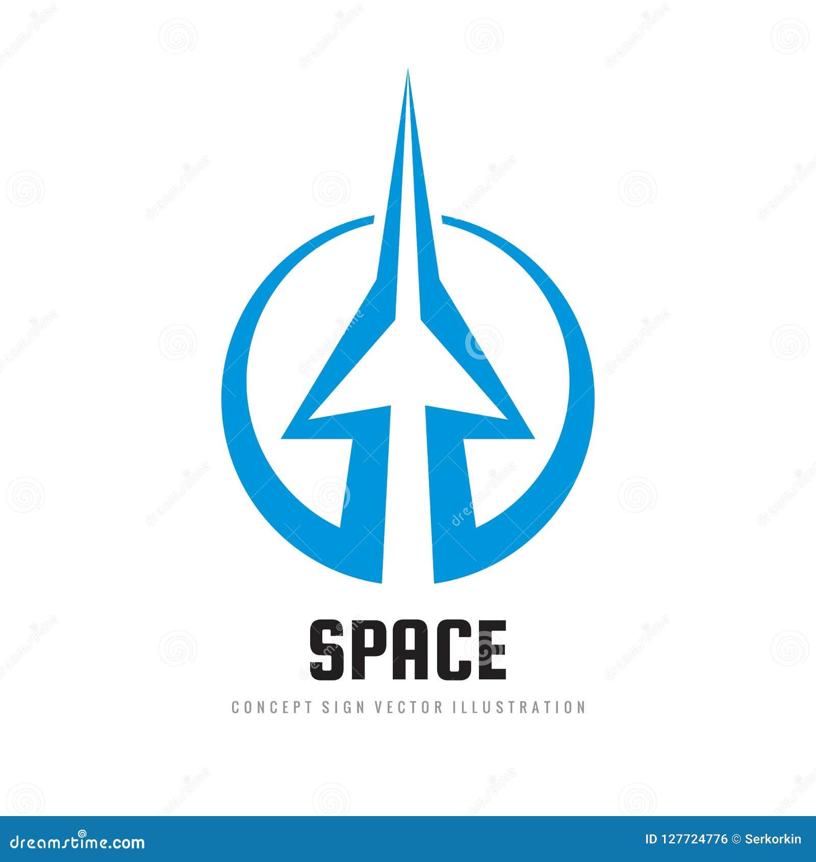 Space - Concept Logo Template Vector Illustration ...
