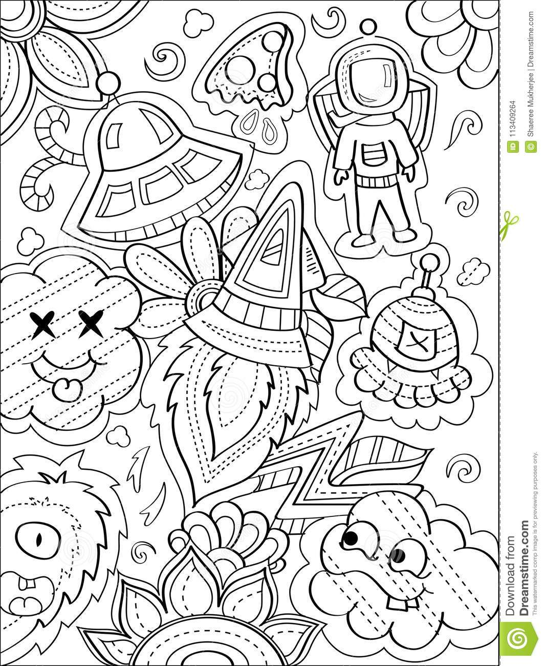 Space Coloring Stock Illustrations – 6,798 Space Coloring Stock  Illustrations, Vectors & Clipart - Dreamstime