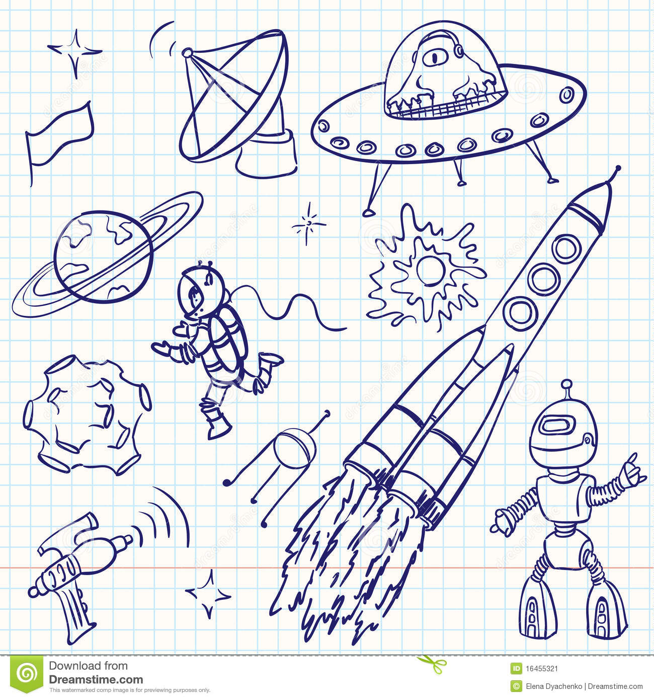 astronomy doodles - photo #16
