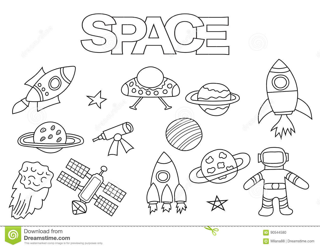 Shuttle cartoons illustrations vector stock images for Stelle da colorare