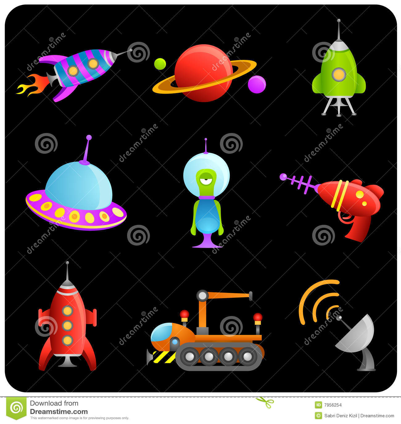 Space elements vector set