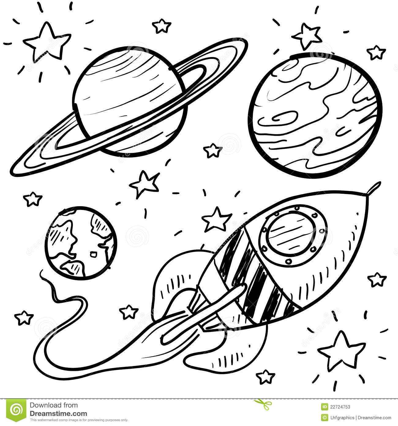 astronomy clipart black and white - photo #35