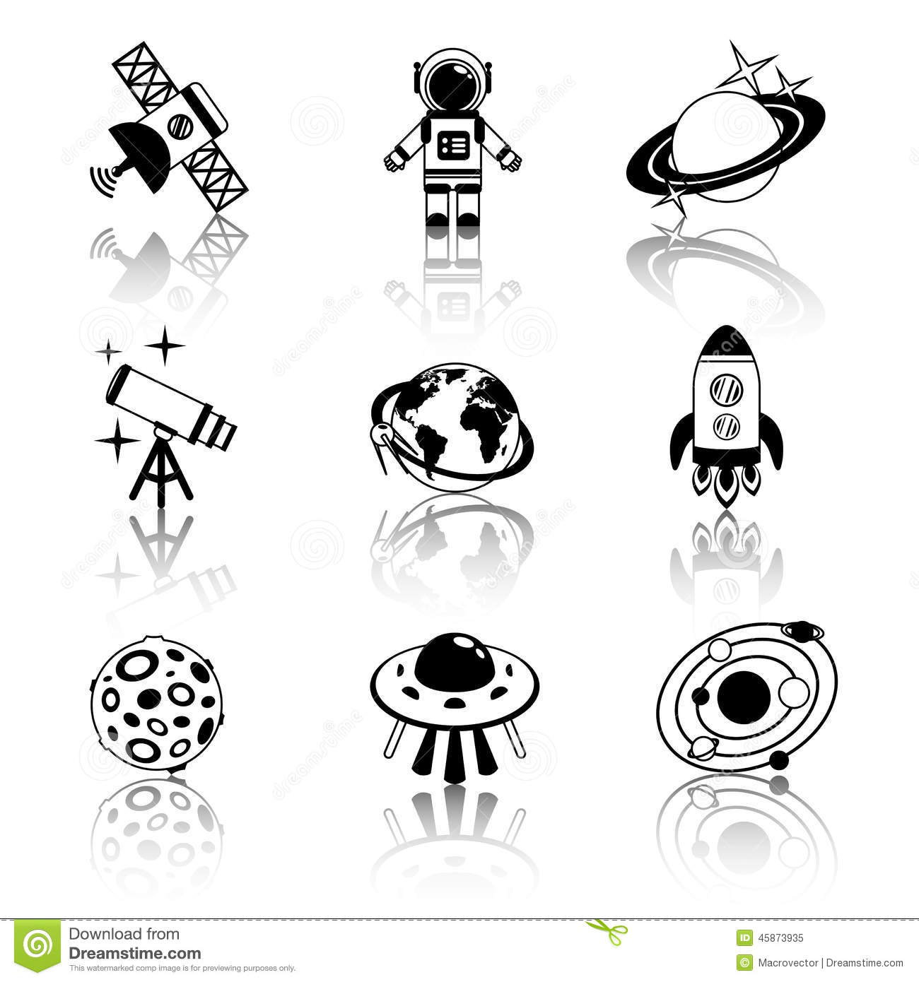 astronomy clipart black and white - photo #44