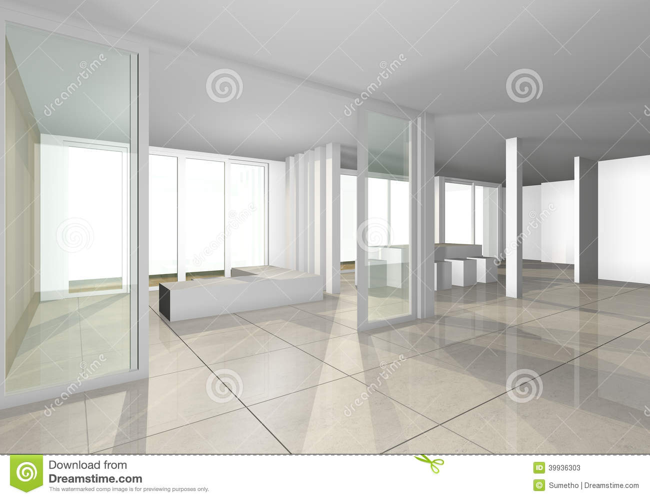 Space interior design stock illustration image 39936303 for 4 space interior design