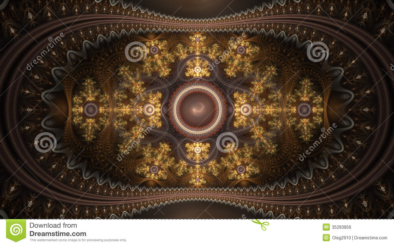Space Magical Fantasy Pattern Royalty Free Stock Image