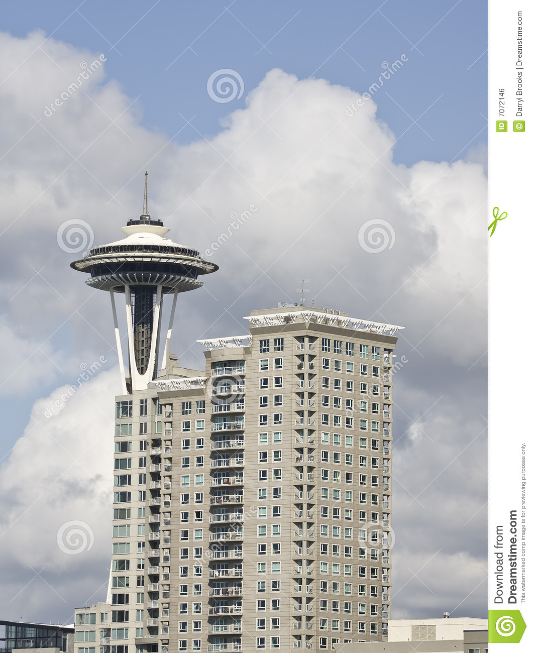 space needle and condos editorial photo image 7072146