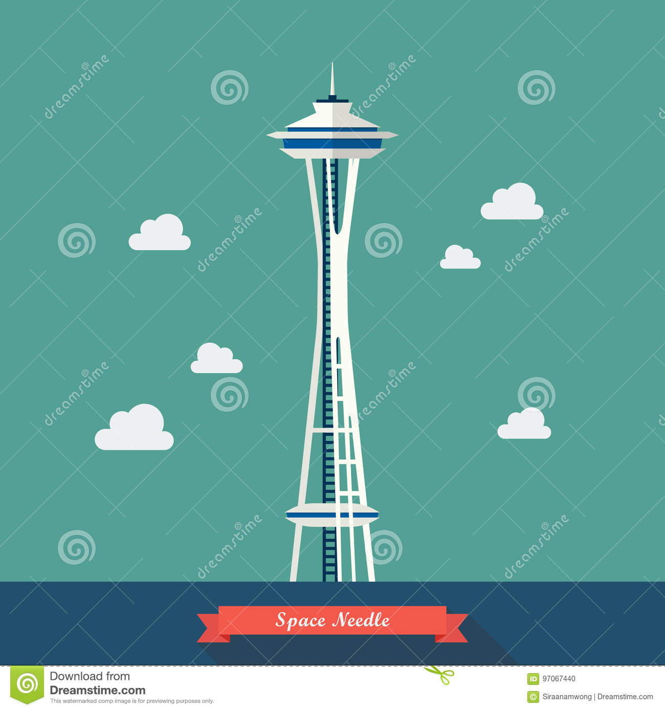 Space Needle. Observation tower