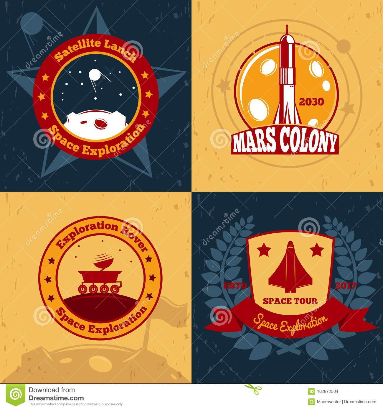Space Odyssey Design Concept Stock Vector Illustration Of Industry