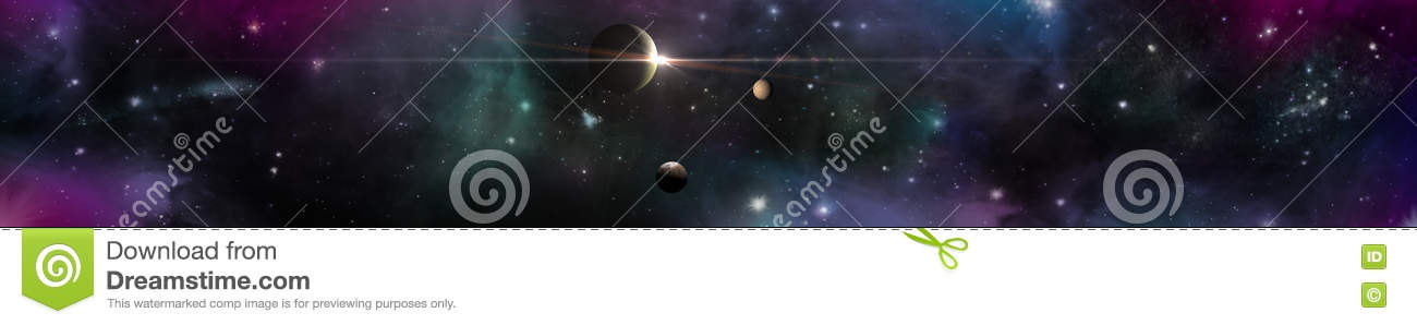 Space panorama landscape. view of the universe.