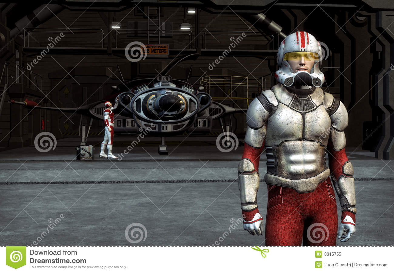 Space Pilot Royalty Free Stock Photo Image 8315755