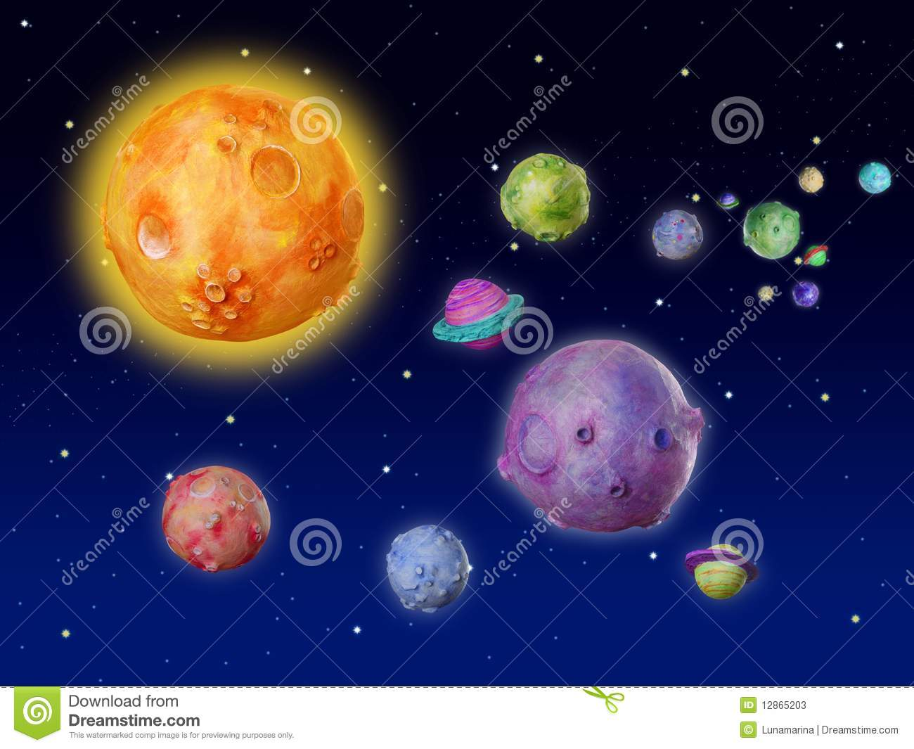 Space planets fantasy handmade  Universe Pictures With All Planets