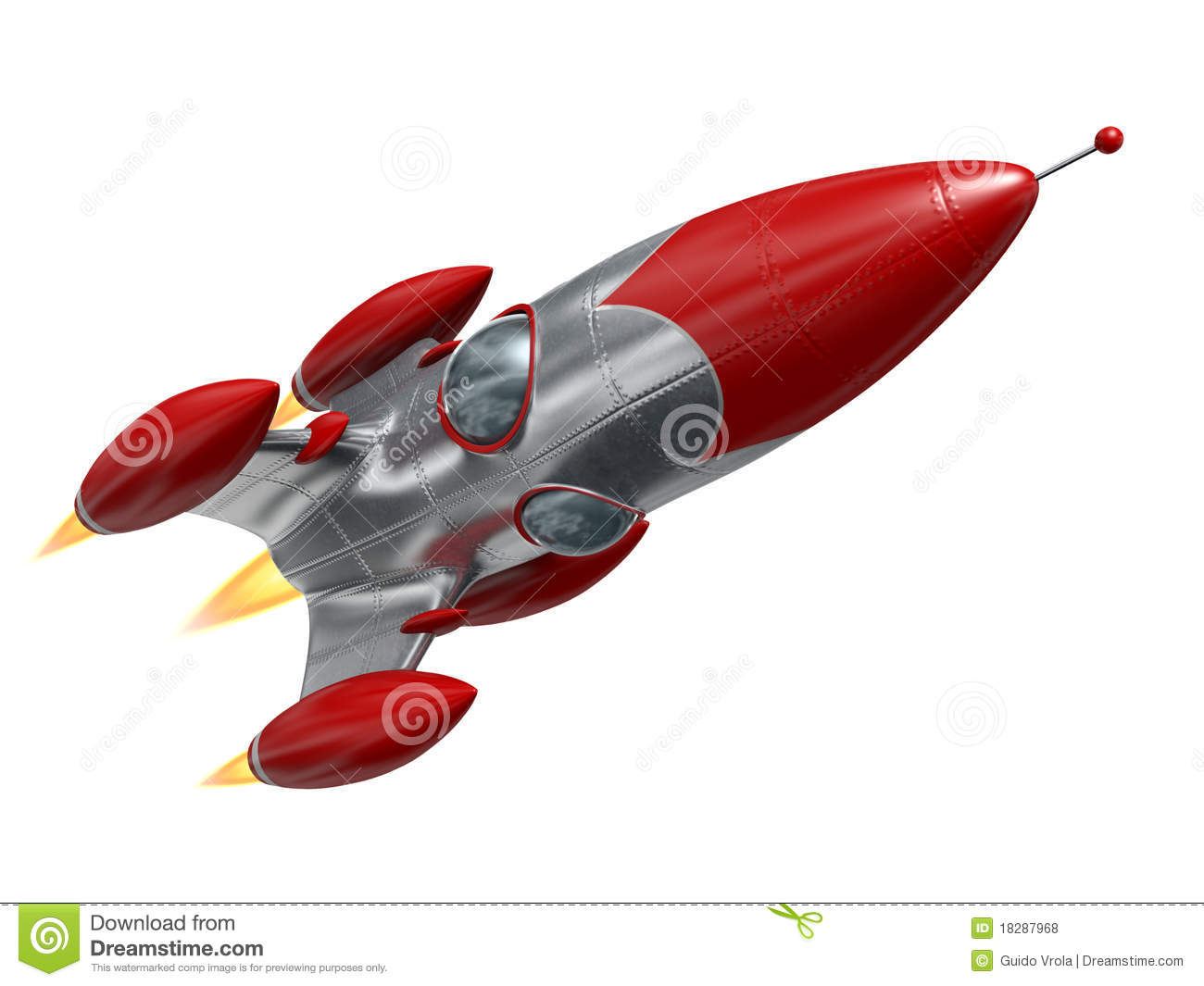 Space rocket stock illustration  Illustration of adventure - 18287968
