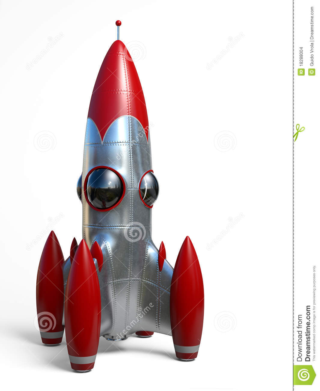 Space rocket stock illustration  Illustration of illustration - 18288004