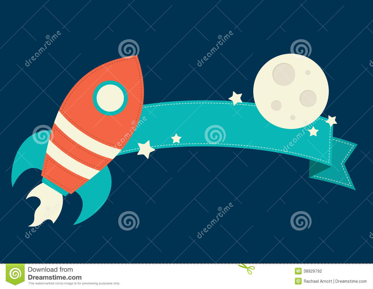 Space Rocket Banner Stock Vector - Image: 38929792