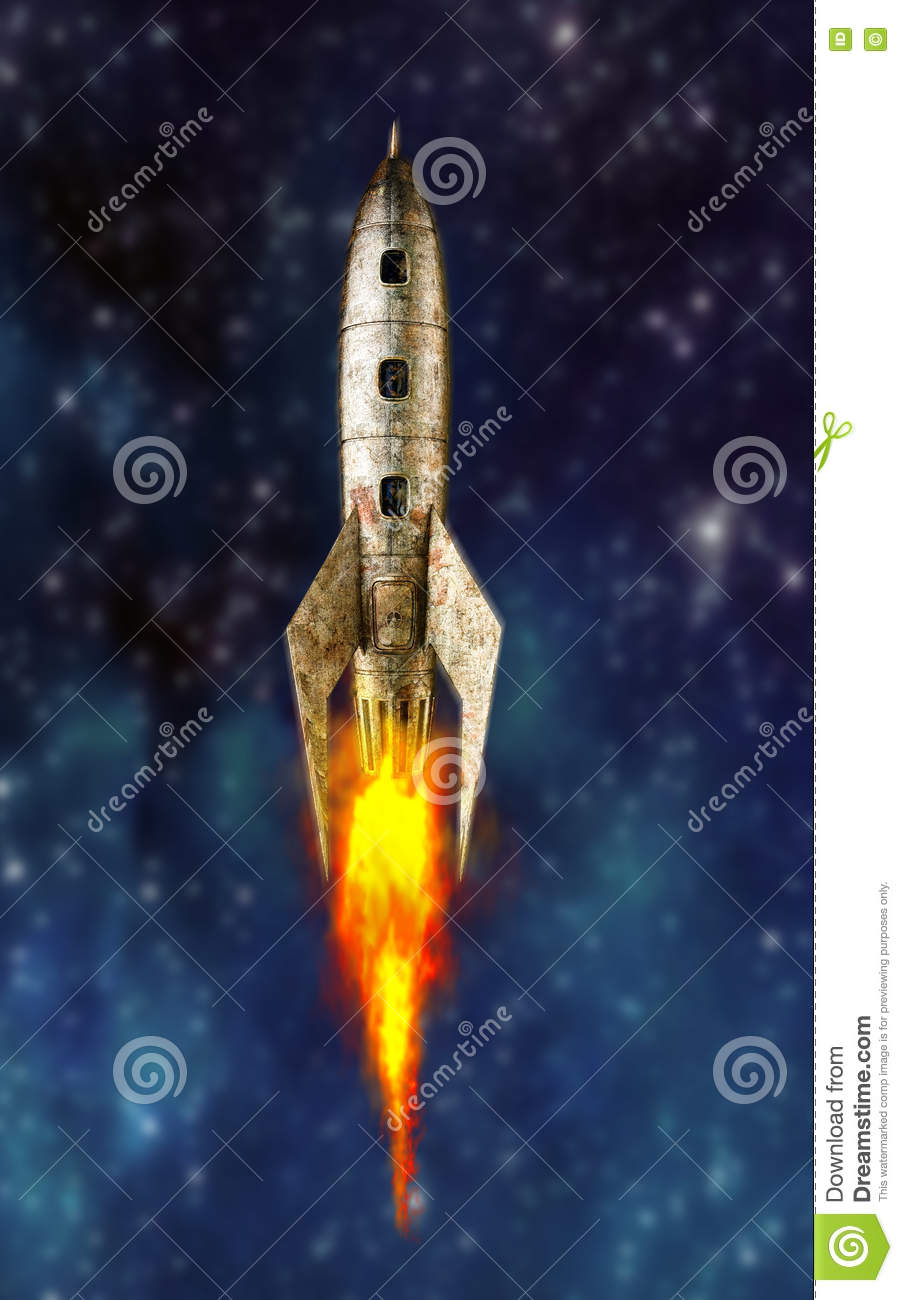 Space rocket stock illustration  Illustration of metal