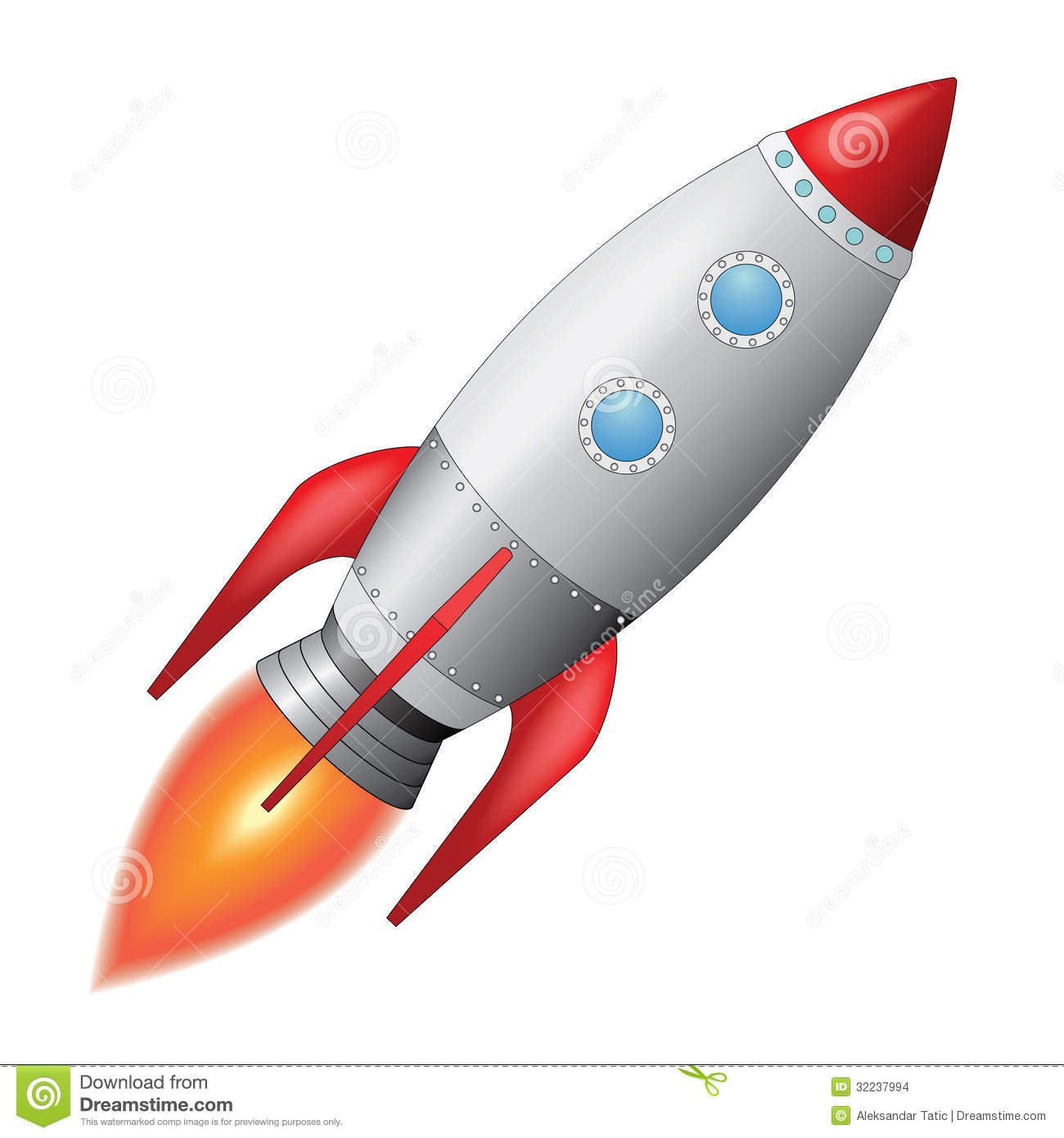 Space Rocket Stock Images - Image: 32237994
