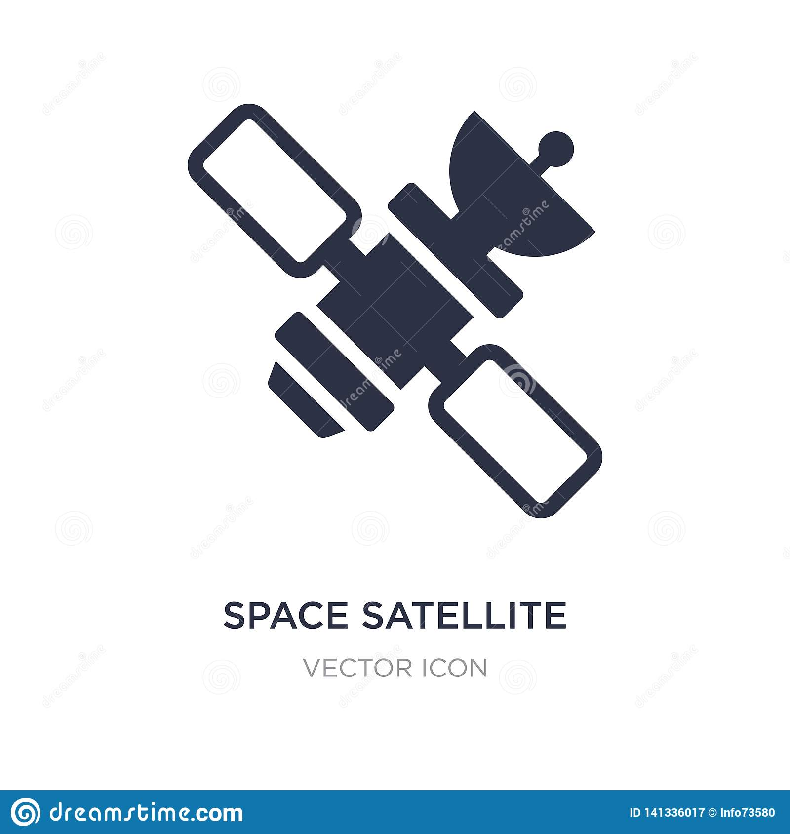 space satellite icon on white background. Simple element illustration from Technology concept