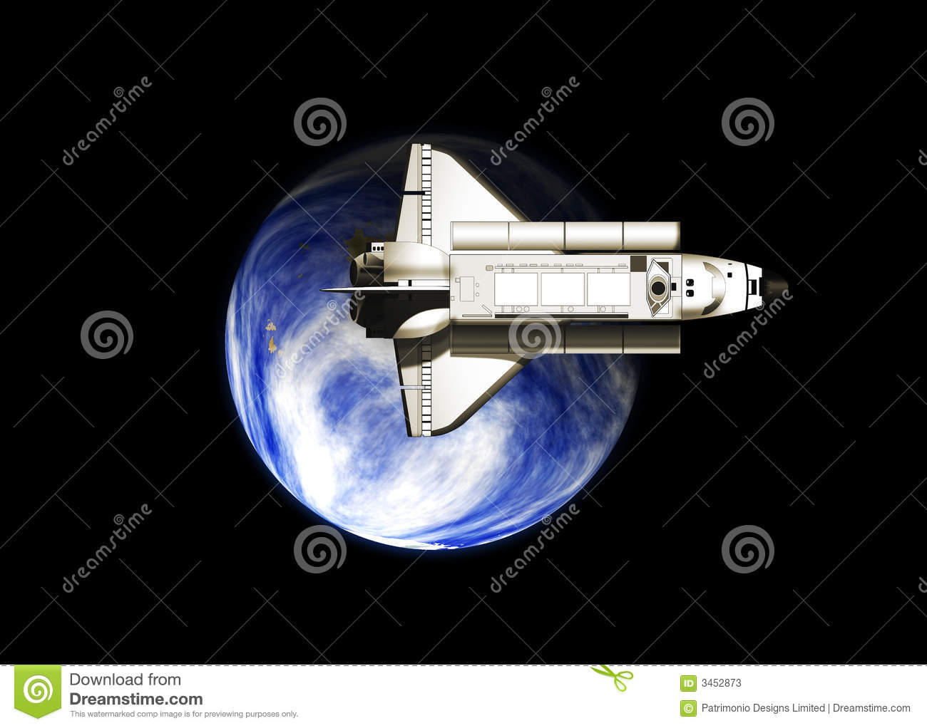 Space Shuttle And Earth Stock Photos - Image: 3452873