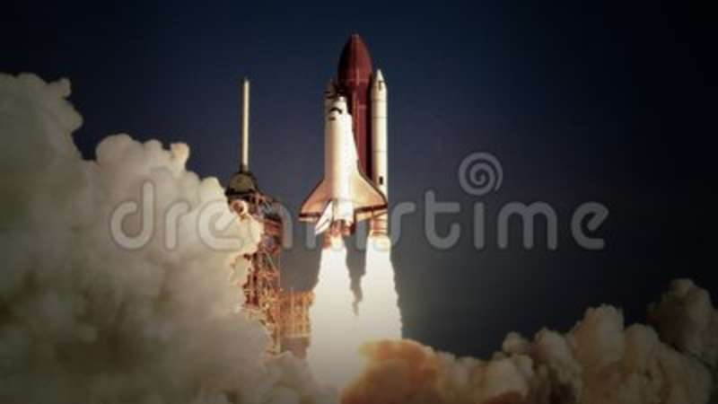 Space Shuttle Launch In Slow Motion Nasa Logo Removed Ship Canaveral