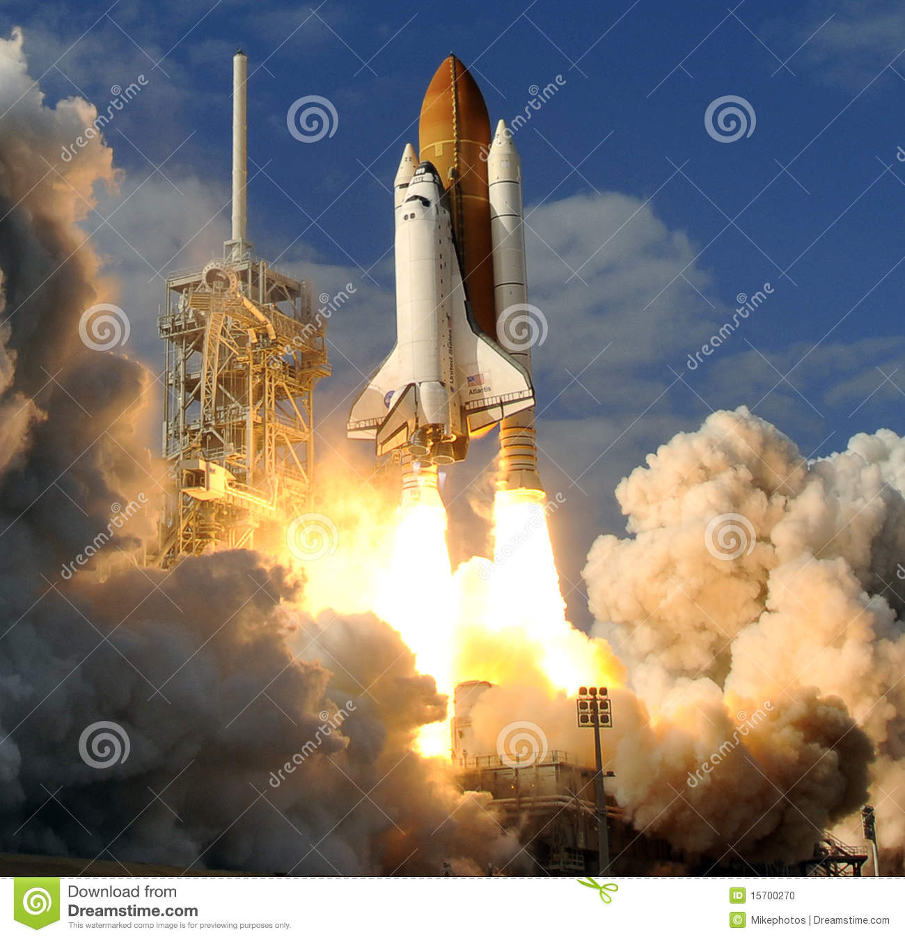 Space Shuttle Liftoff Editorial Image - Image: 15700270