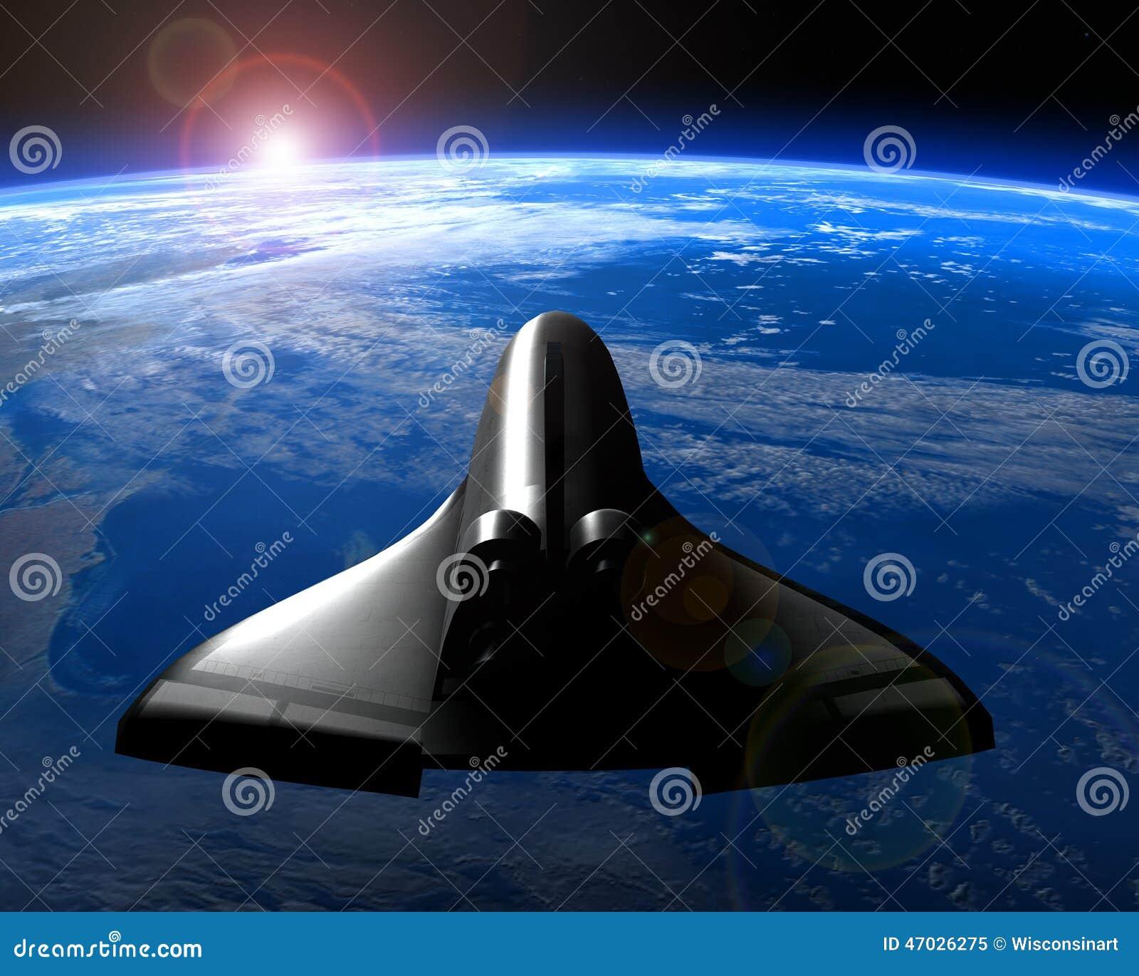 Space Shuttle Orbit Planet Earth Stock Illustration ...