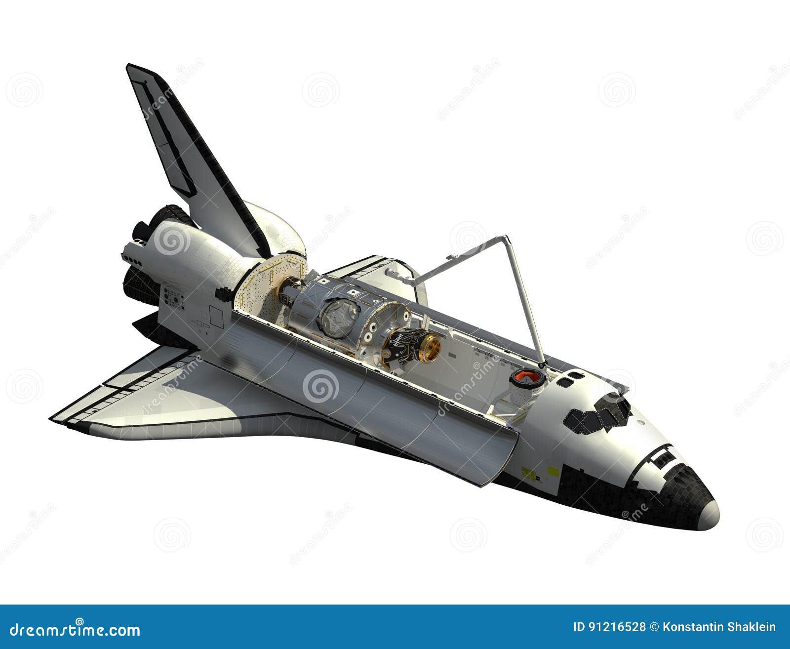Space Shuttle Orbiter On White Background