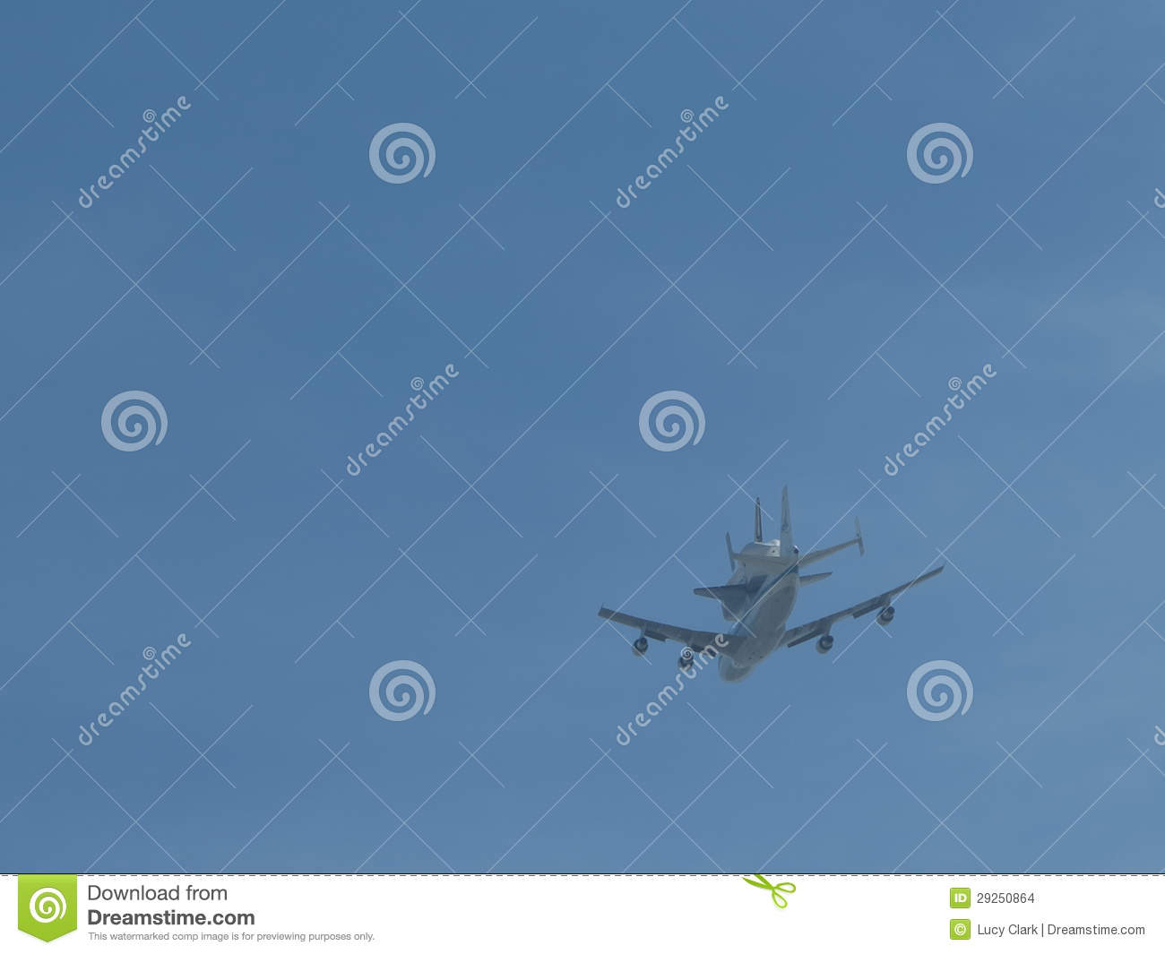 Space Shuttle Piggyback Editorial Stock Image - Image ...